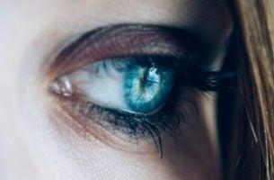Dziewczyna o niebieskich oczach.