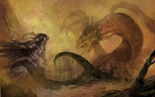 Rycerz walczący ze smokiem