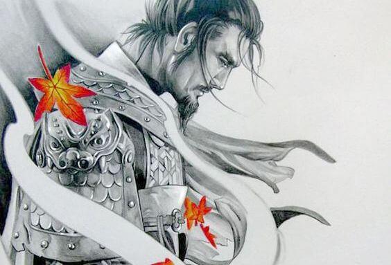rysunek samuraja