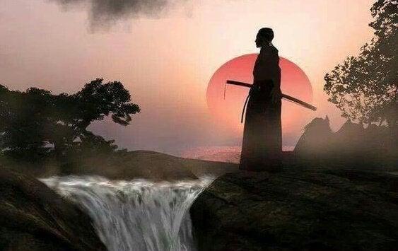 samuraj nad wodospadem