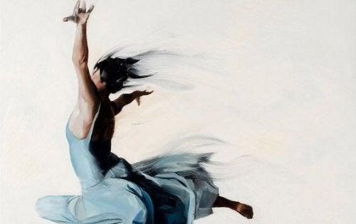 Tańcząca kobieta.