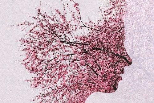 Twarz z kwiatów