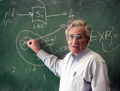 Chomsky przy tablicy