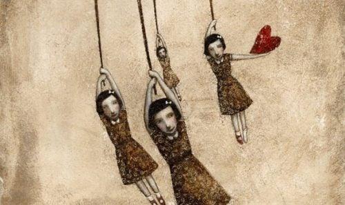 Wiek emocjonalny - dziewczynki marionetki.