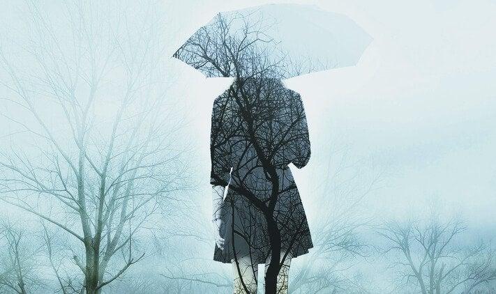 Kobieta z parasolem.