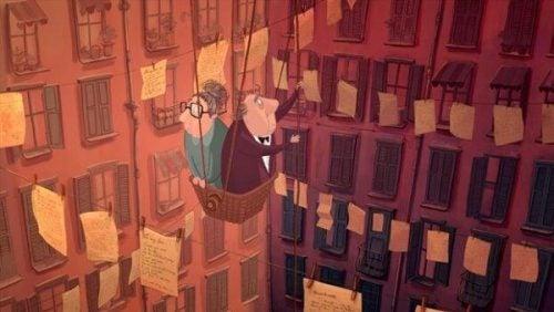 Lost property - dwoje starszych ludzi wśród listów