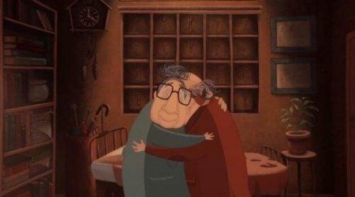 Lost property- silne uderzenia życia - starsi ludzie przytulają się