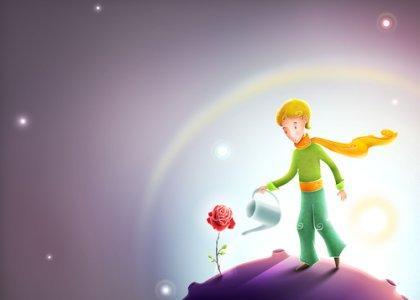 Maly Książę i jego róża.
