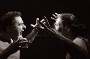 Zachowanie heteroagresywne - para się kłóci