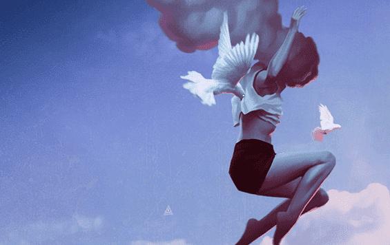 skacząca dziewczyna