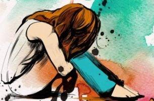 smutna dziewczyna - noradrenalina a chroniczny lęk