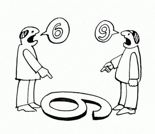 Dwoje ludzi różnie postrzega ten sam obiekt