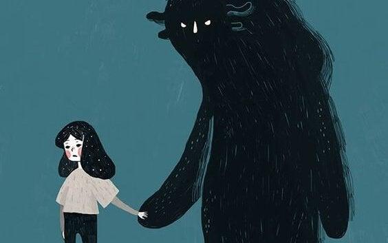 Dziewczynka prowadzona przez strach.