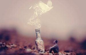 gołąb w butelce