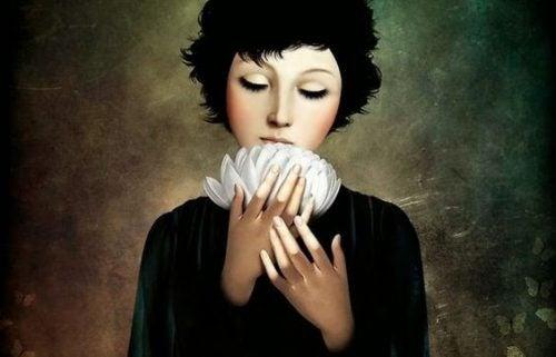 Kobieta i kwiat