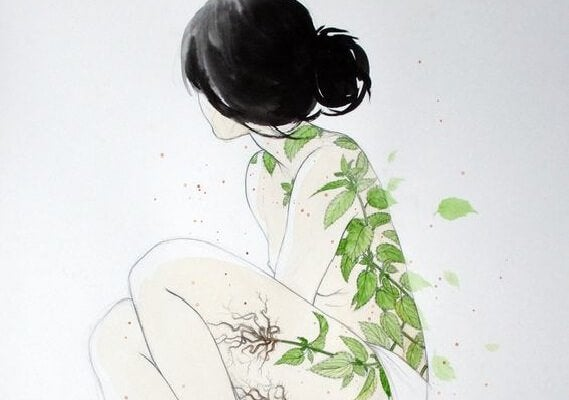 Tatuaż z liści
