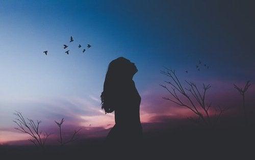 Kobieta - zachód słońca