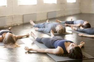 Joga - ludzie, którzy ją ćwiczą.