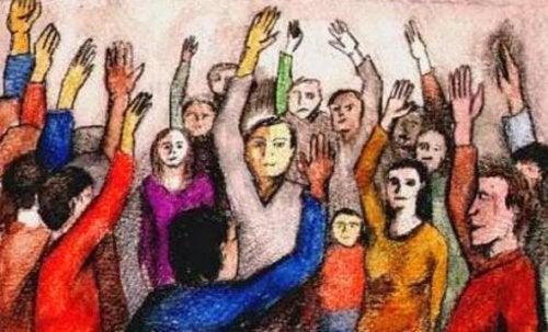 Ludzie wznoszący ręce