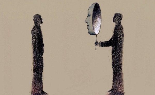 dwie postaci z maską