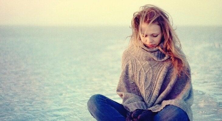Nastolatka nad morzem