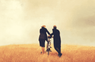 Para z rowerem