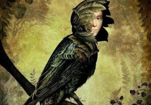 Zazdrość - ptak z twarzą kobiety