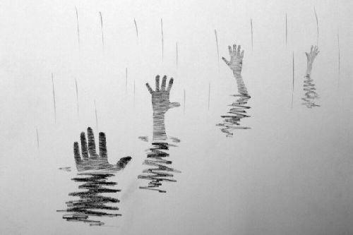 Ręce wołające o pomoc