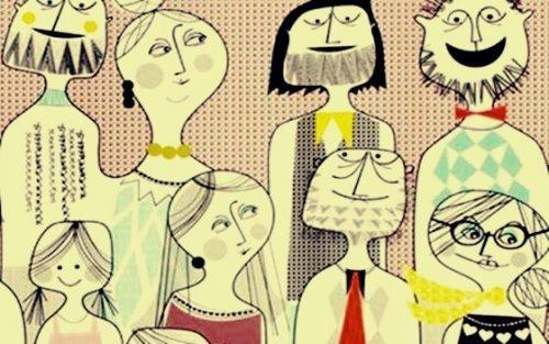 Samopoświęcanie - rodzina na zdjęciu