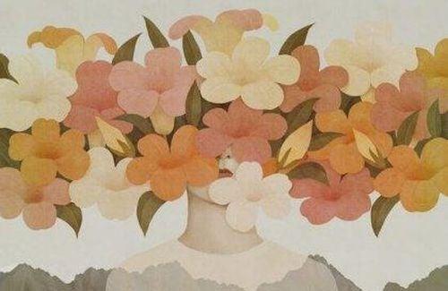 Samotność jest nie do zniesienia - kobieta z kwiatami zamiast głowy