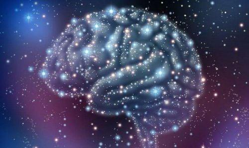 Zasoby poznawcze - gwiazdy na niebie ułożone w kształt mózgu