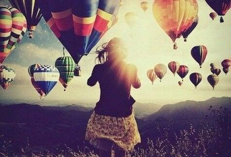 Lot balonów