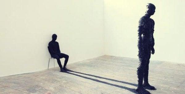 Mężczyzna i cień