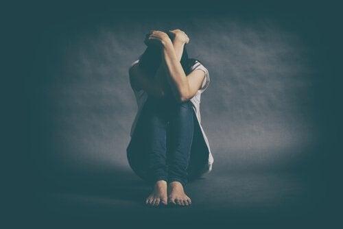 Kobieta z depresją.