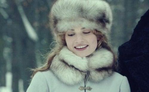 Kobieta w zimie.