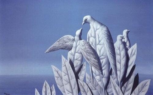 Liście jak ptaki.