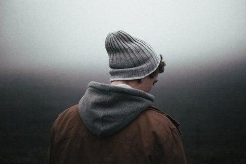 Mężczyzna w depresji.