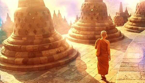 Tybetański mnich.