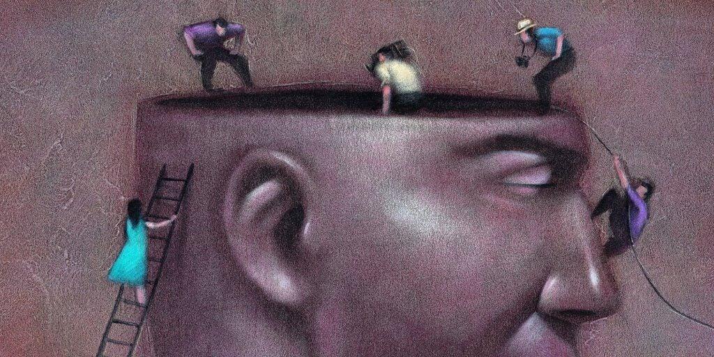 osoby wchodzące do głowy