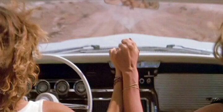 Ostatnia scena z filmu Thelma i Louise