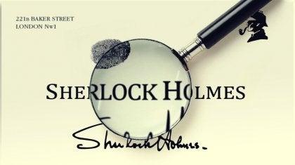 Sherlock Holmes - podpis