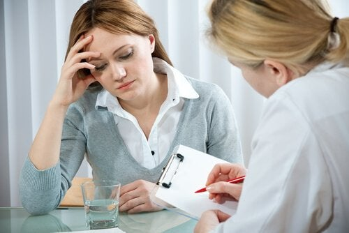Kobieta podczas psychoterapii