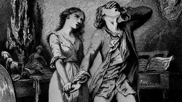 Obraz cierpienia reprezentujący cytaty Goethego
