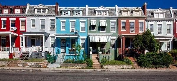 Piękne domy w rzędzie