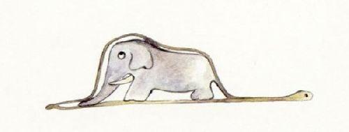 Narysowany słoń przez dziecko