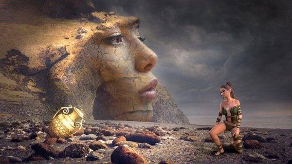 Podróż bohatera - kobieta na pustkowiu