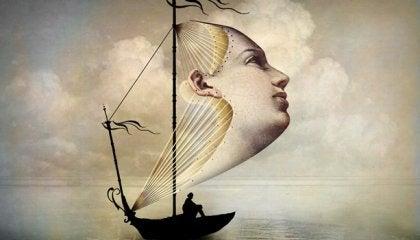 Statek z twarzą zamiast żagla
