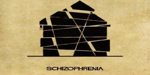 Zaburzenia psychiczne jako domy - schizofrenia