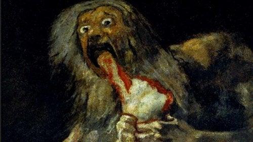 Saturn pożerający swe dzieci Goya