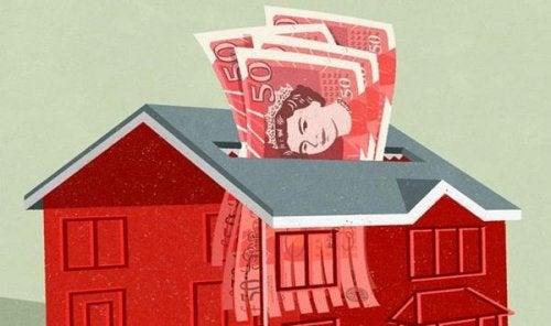 dom w formie niszczarki do pieniędzy